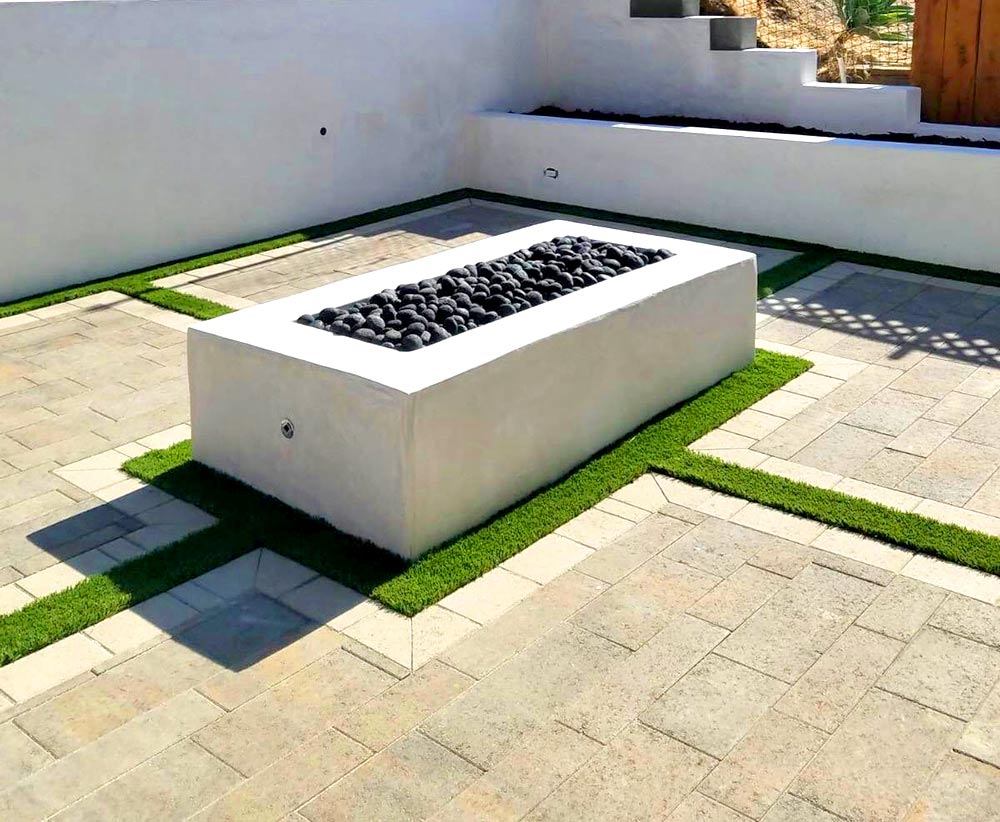 Break up lawn with pavers