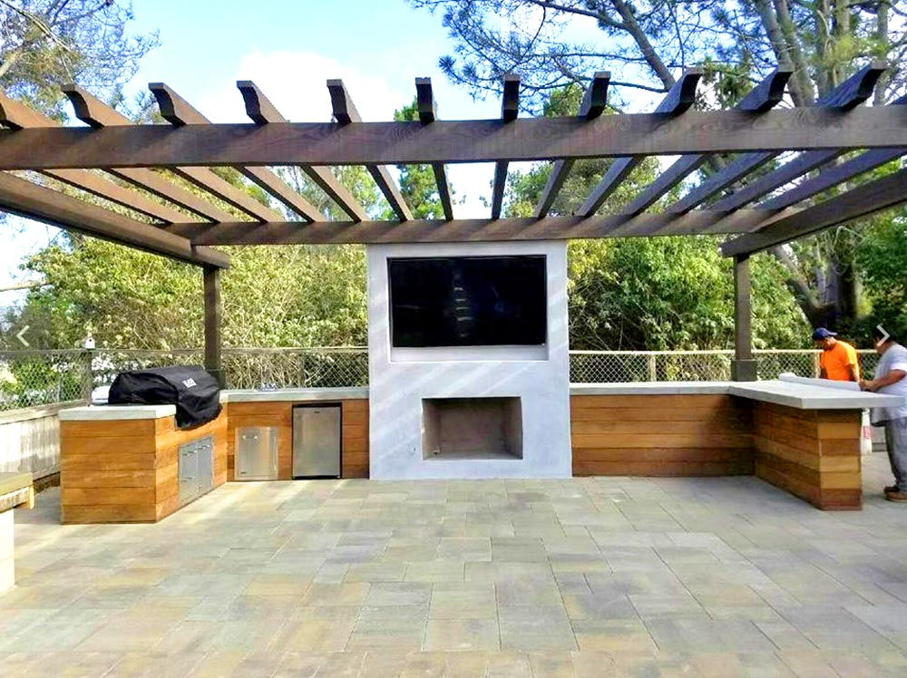 outdoor patio entertainment pavers