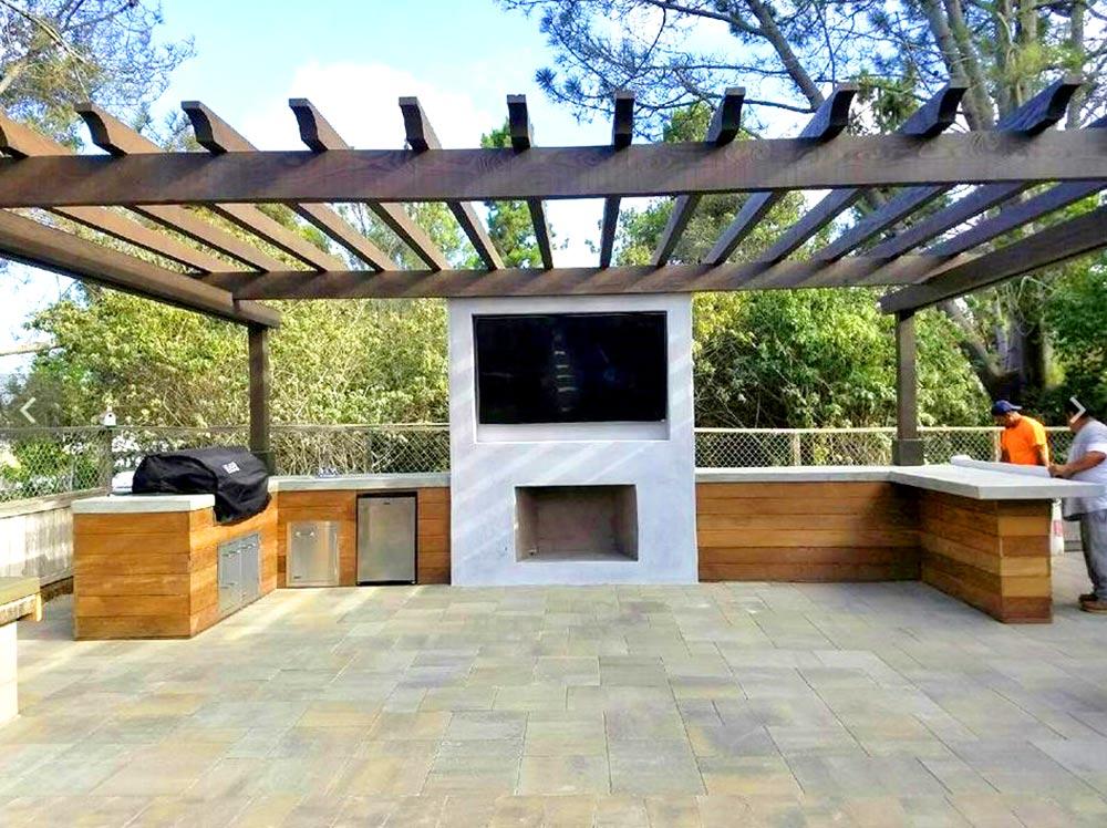 outdoor patio entertainment pavers